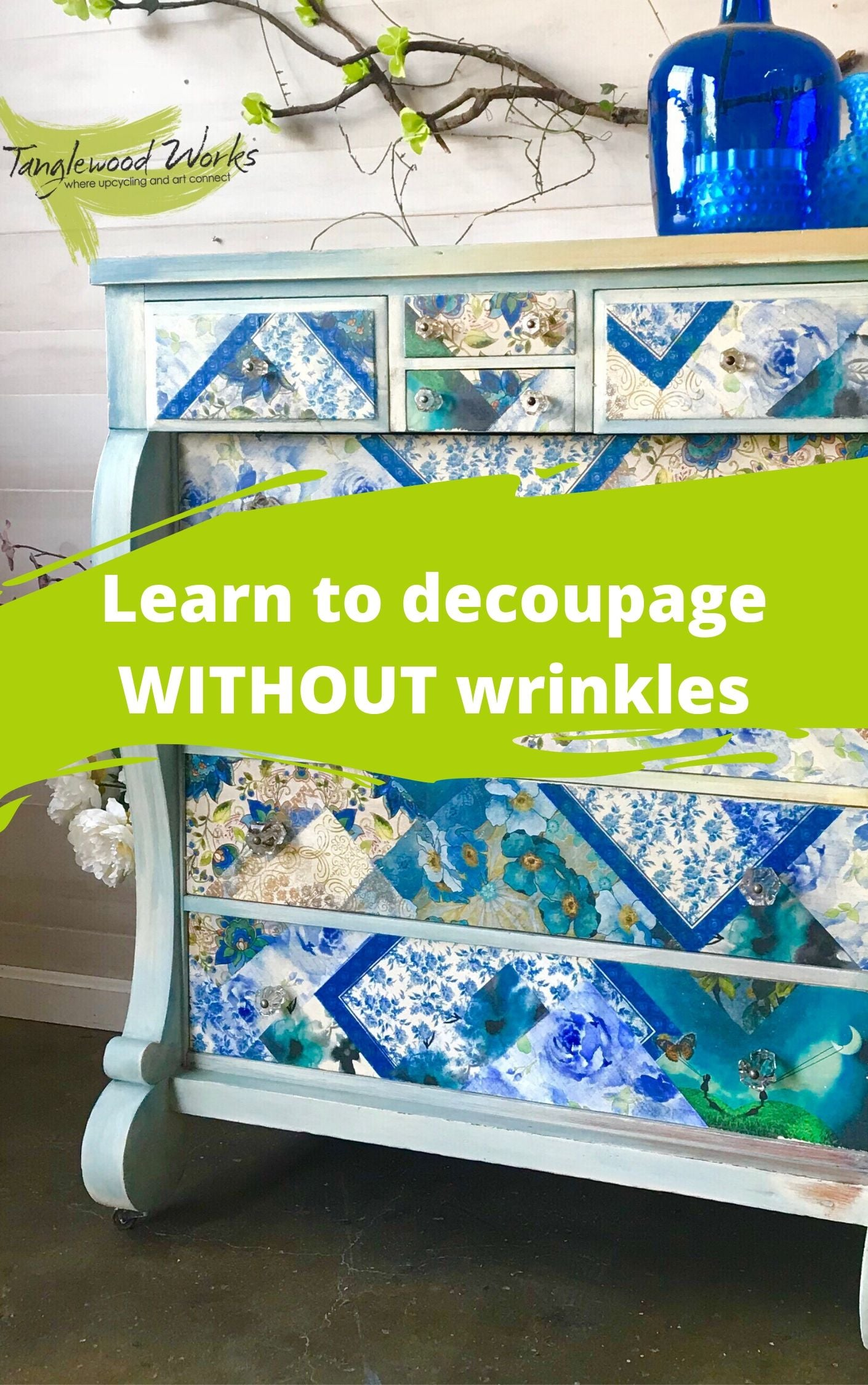 Learn how to decoupage with no wrinkles.