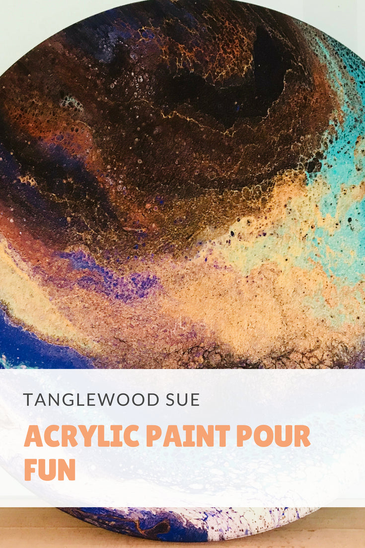 LIVE! Tanglewood Sue and Agnes try out paint Pouring