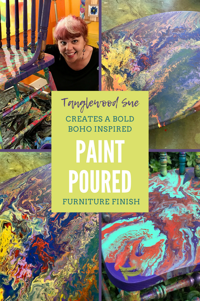 Tanglewood Sue Paint Poured Projects