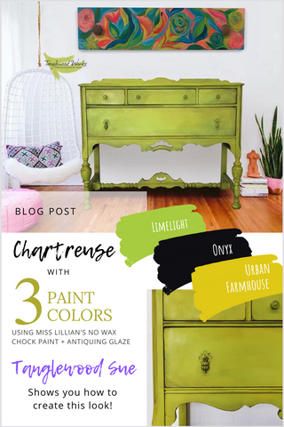Chartreuse Dresser Tanglewood Sue PIN