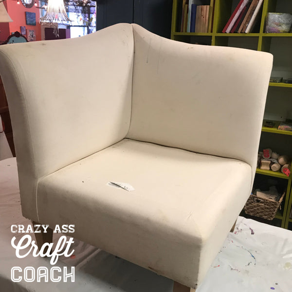How to Paint upholstery and sectionals Tanglewood Sue