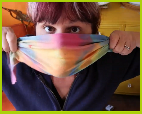 How to make a No sew DIY face mask with Tanglewood Sue