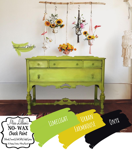 Chartreuse Buffet: Tanglewood Sue - Miss Lillian's NO Wax Chock Paint