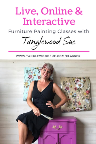 Online Furniture Painting with Tanglewood Sue