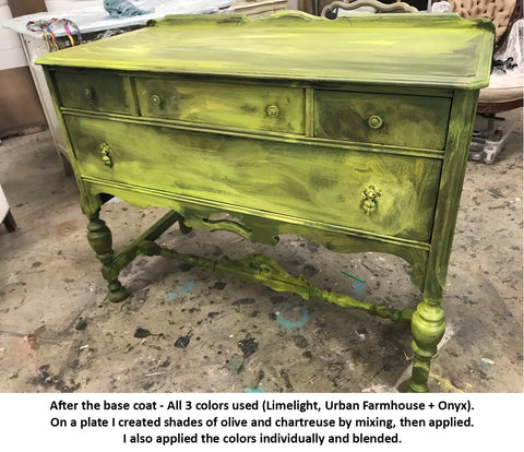 Chartreuse Dresser - Tanglewood Sue