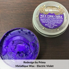 Redesign with Prima Metallique Wax - Electric Violet - Tanglewood Works