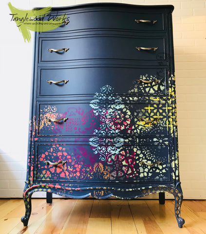 stencils Hand Painted Furniture