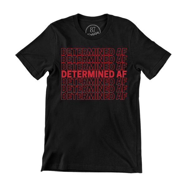 Black 87 Treasures Determined AF crew neck t-shirt