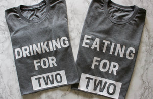 87 Treasures Drinking for two Eating t shirt