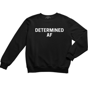 Black 87 Treasures Determined AF crew neck sweater