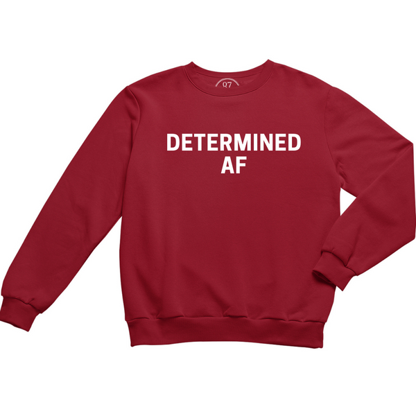 Red 87 Treasures Determined AF crew neck sweater