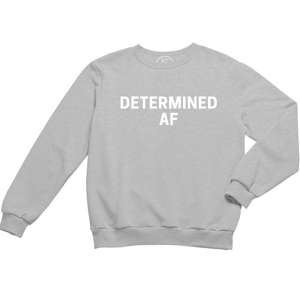 Grey 87 Treasures Determined AF crew neck sweater