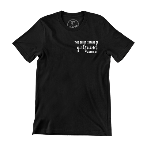 Black 87 Treasures Girlfriend material crew neck t shirt