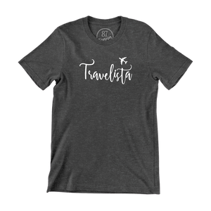Grey 87 Treasures Travelista crew neck t-shirt