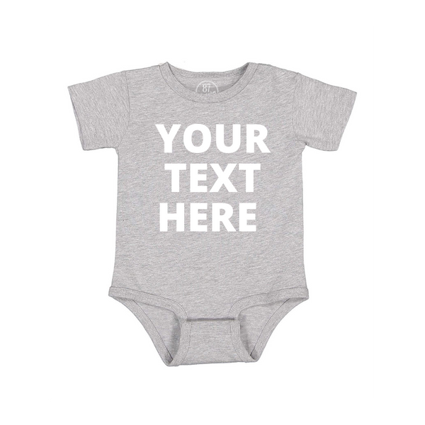 grey 87 Treasures custom baby onesie