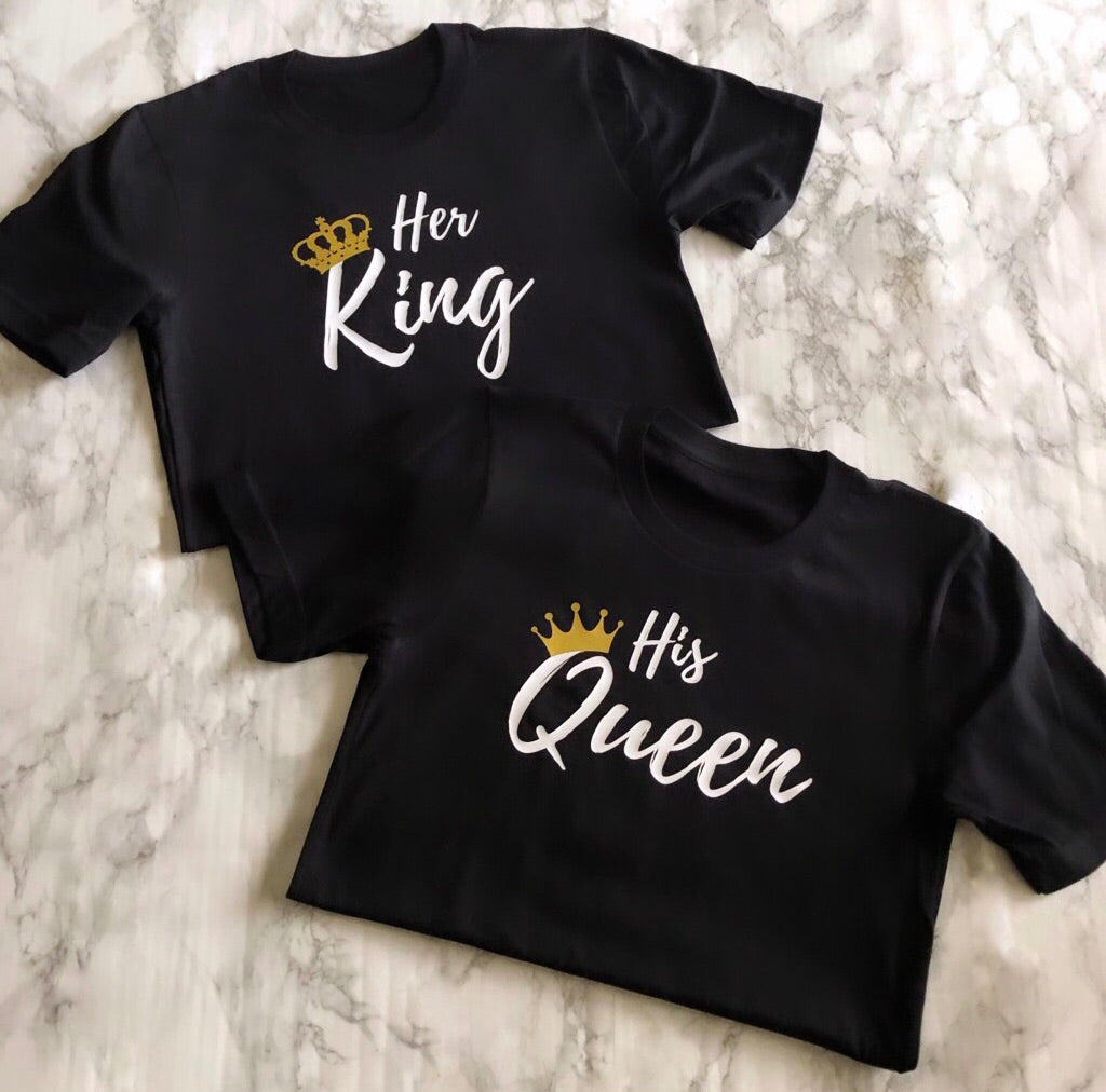 Her King & His Queen T-Shirt Set