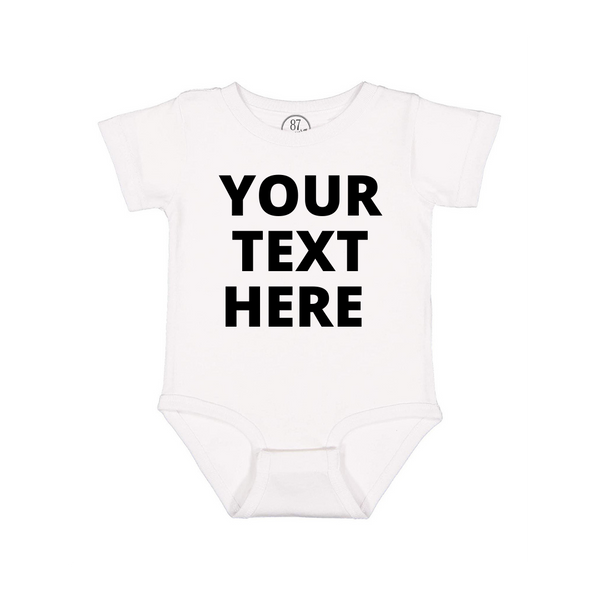 white 87 Treasures custom baby onesie