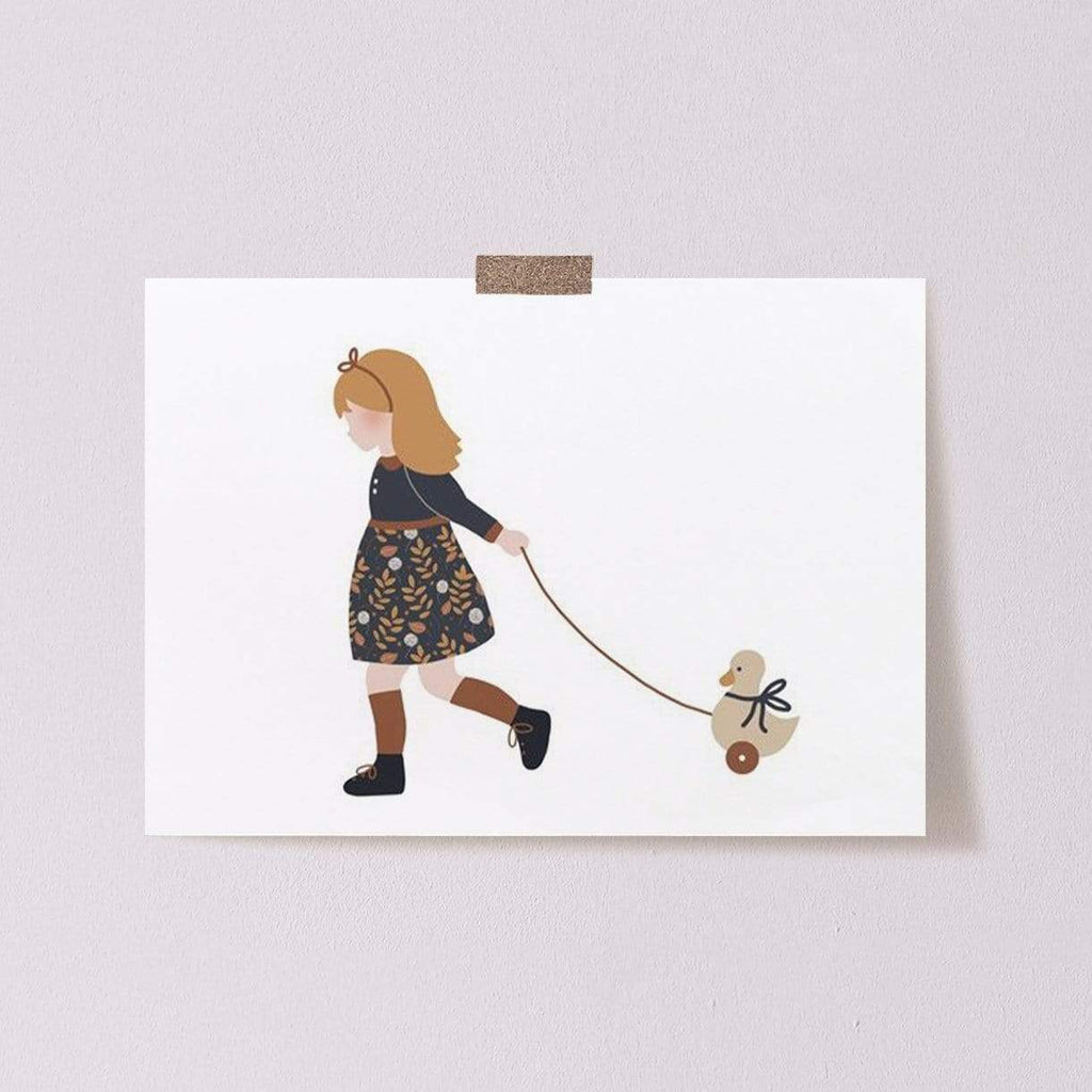 Atelier Oranger Postcards Liberty Girl & Toy