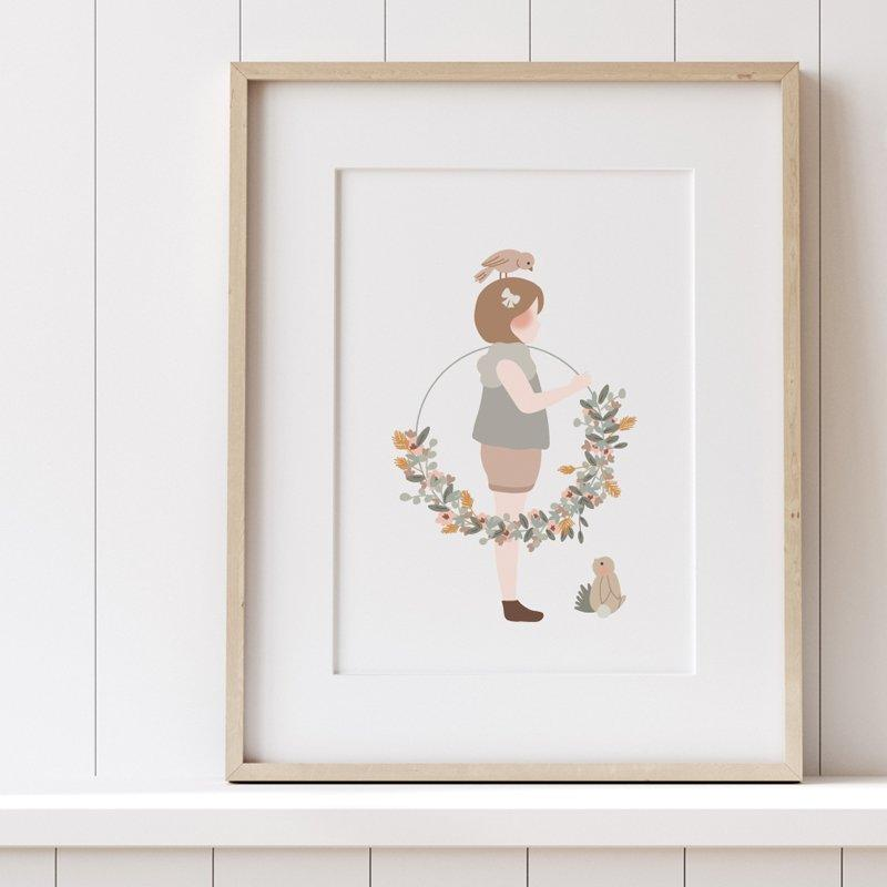 Atelier Oranger Postcards Liberty Girl with Wreath