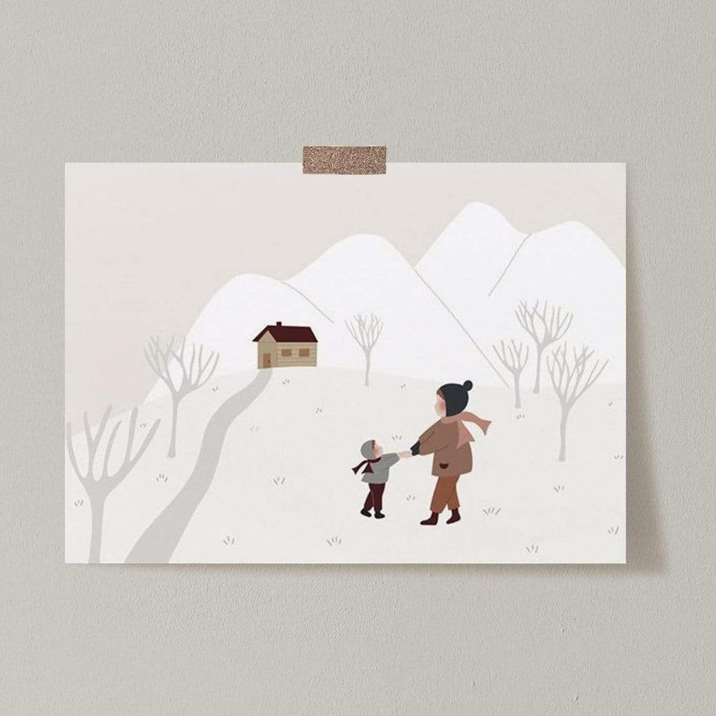 Atelier Oranger Postcards Liberty Together in Winter
