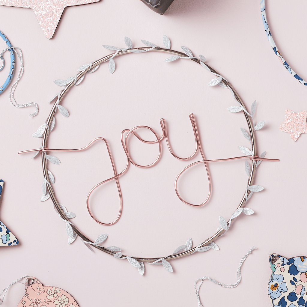 'Joy' Hoop sign (more options available)