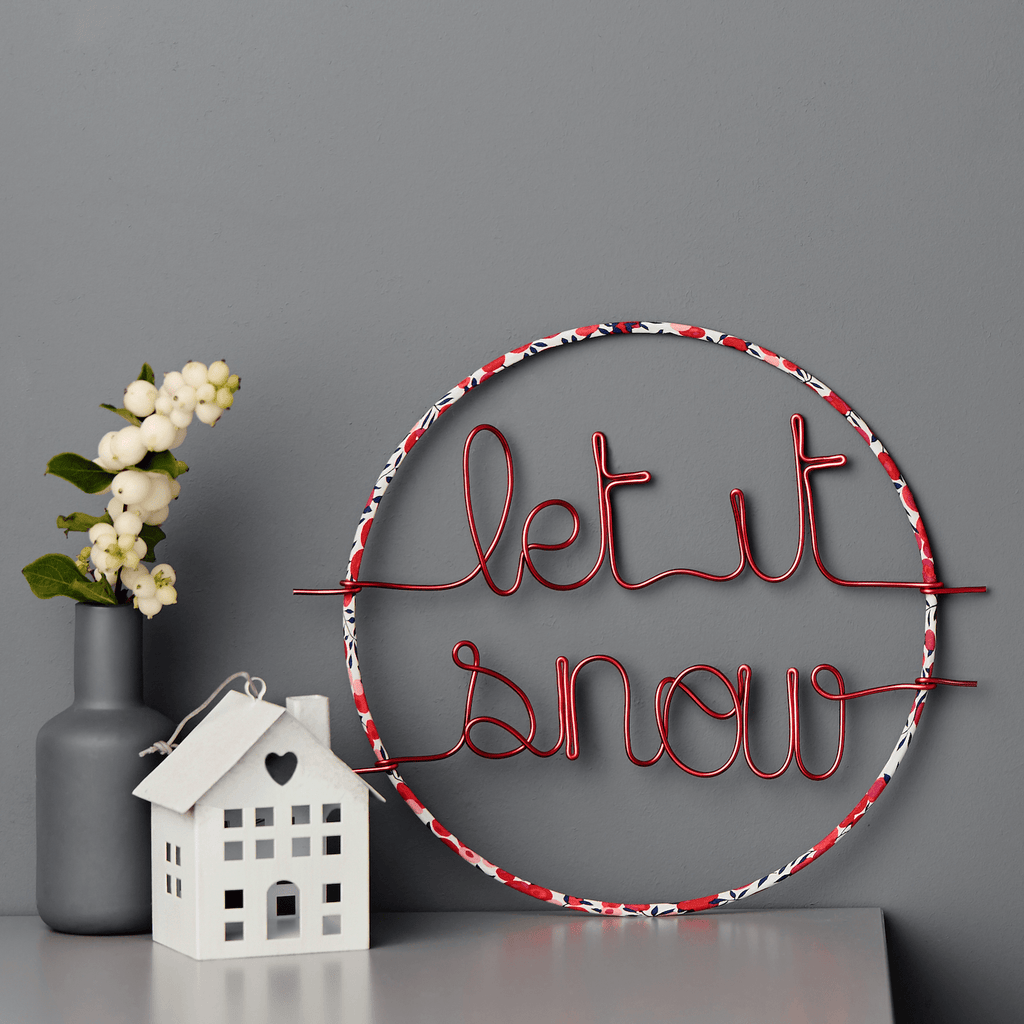 Little Cloud Christmas Let It Snow Hoop sign (more options available)