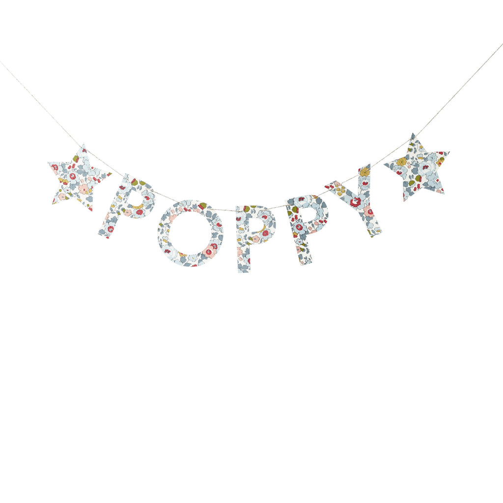 Betsy Grey Liberty Name Garland Little Cloud Garland