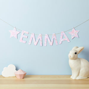 Liberty Name Banner Little Cloud Betsy Pink