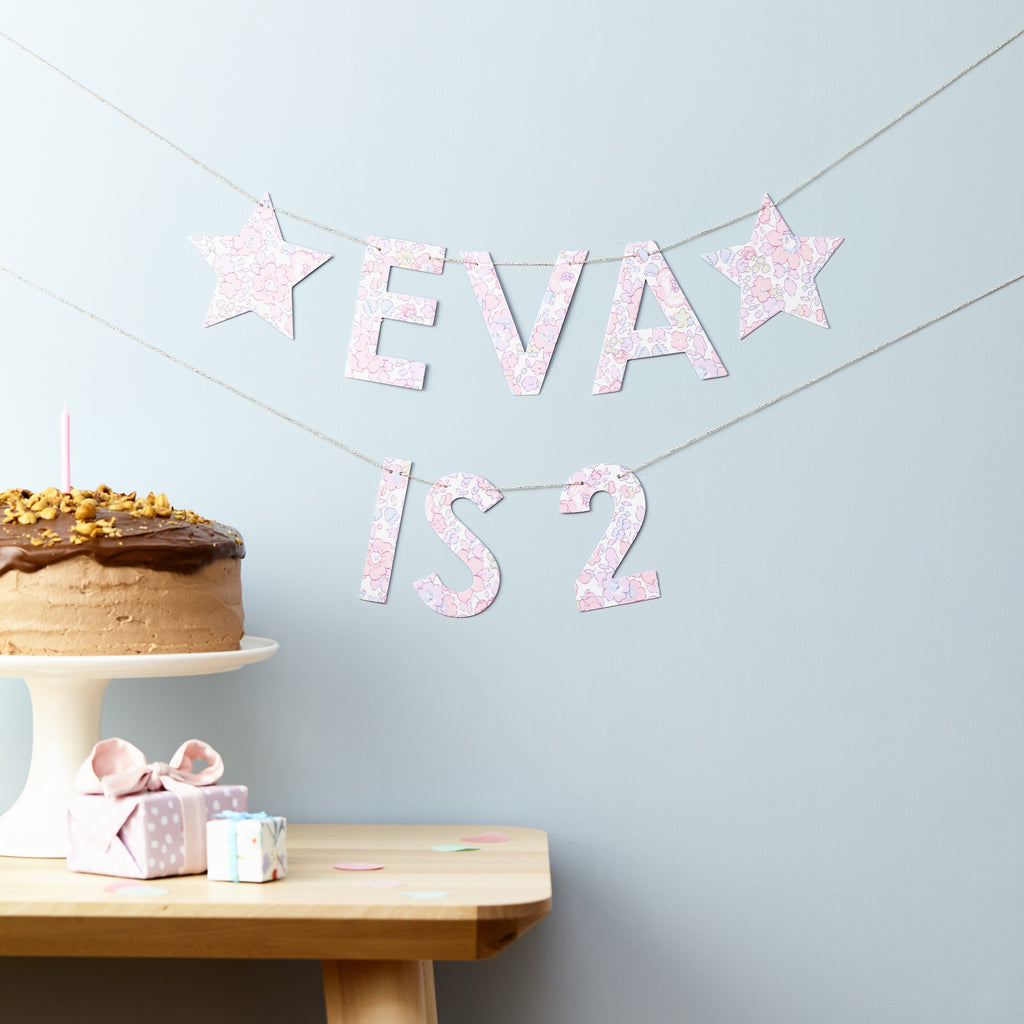 Little Cloud Garland Liberty Birthday Banner
