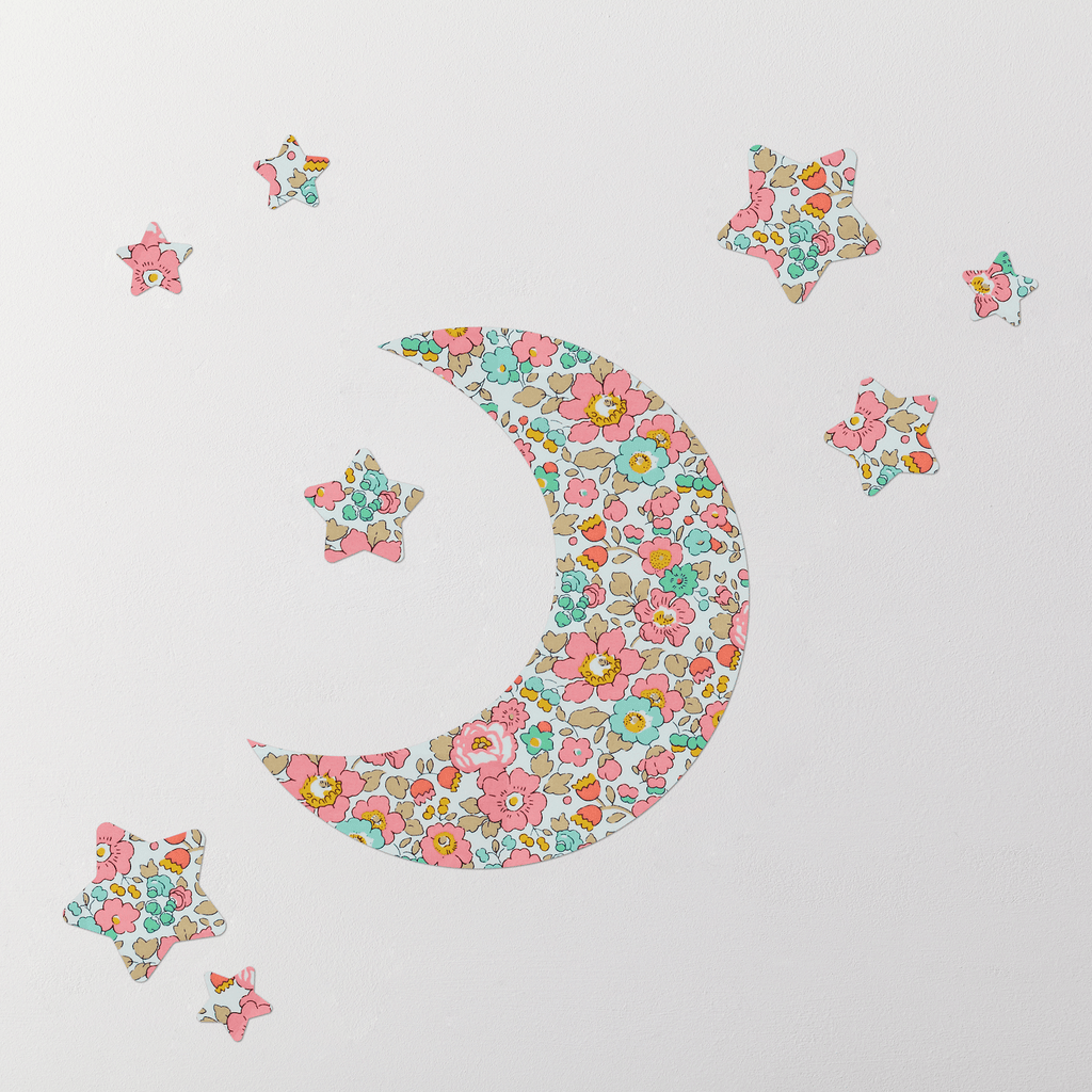 Little Cloud Moon Wall Stickers Liberty Betsy Rose Liberty Moon & Stars Wall Stickers Set