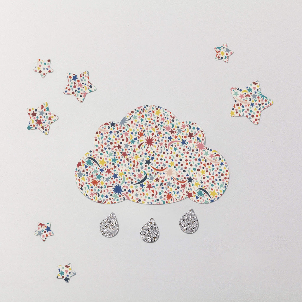 Fizz Pop Liberty Cloud & Stars Wall Stickers Set