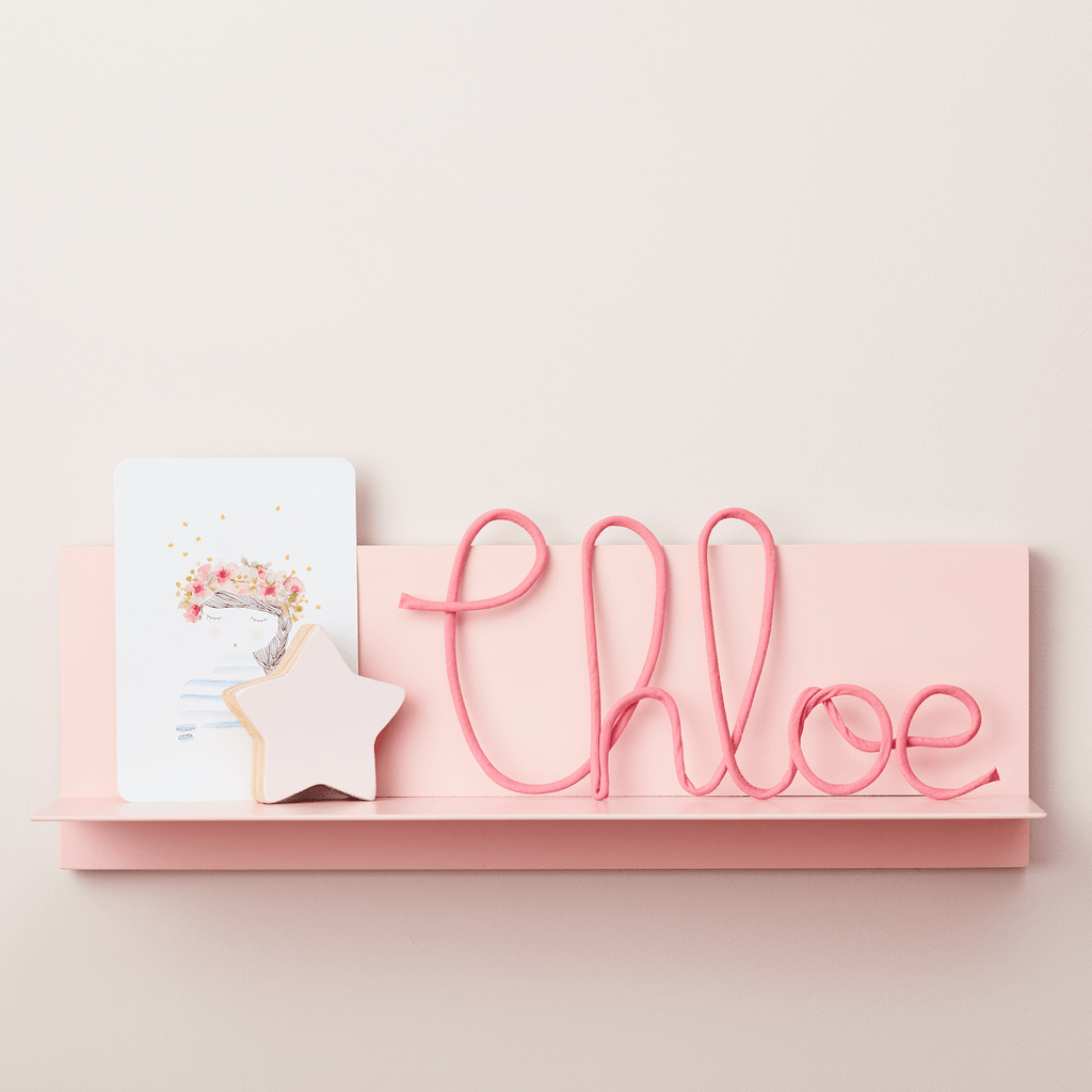 Little Cloud Plain Fabric Signs Watermelon Pink Name Sign