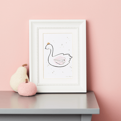 Little Cloud Postcards Classic Swan Postcard