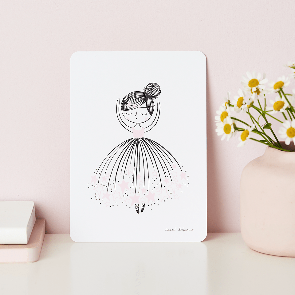 Little Cloud Postcards Star Dreamer Ballerina Postcard