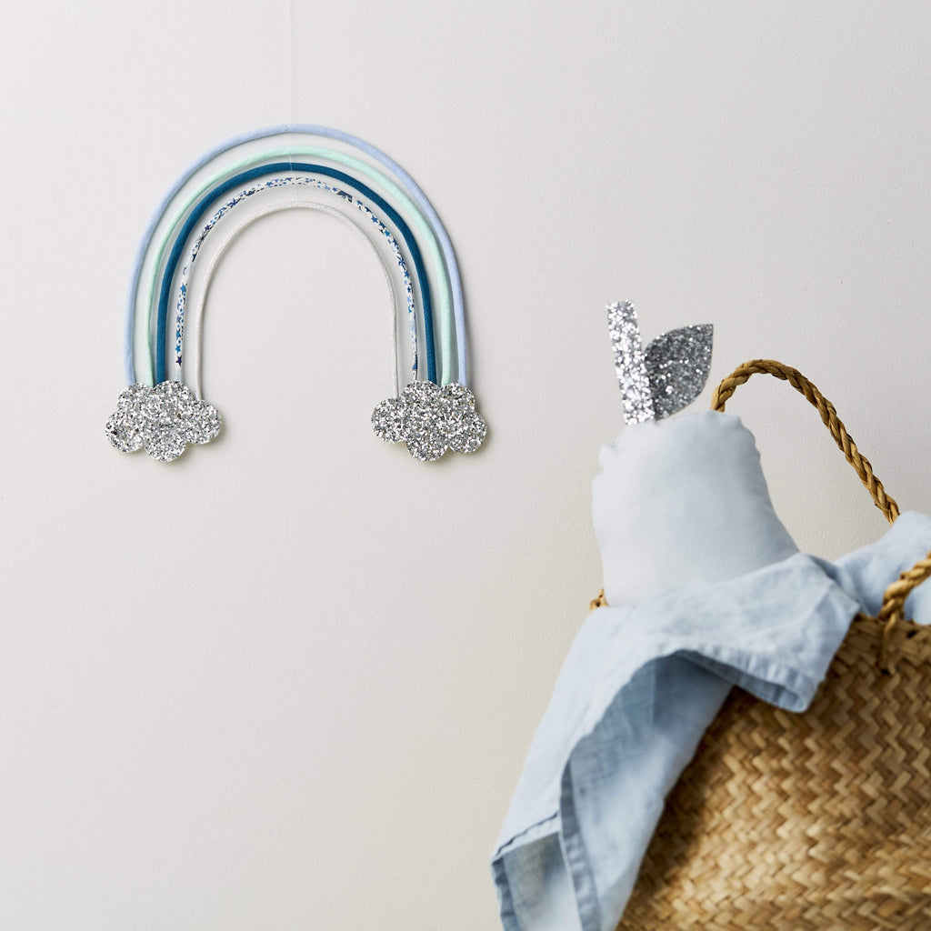 Little Cloud Rainbows Liberty Adelajda Blue Rainbow Wire Wall Hanging