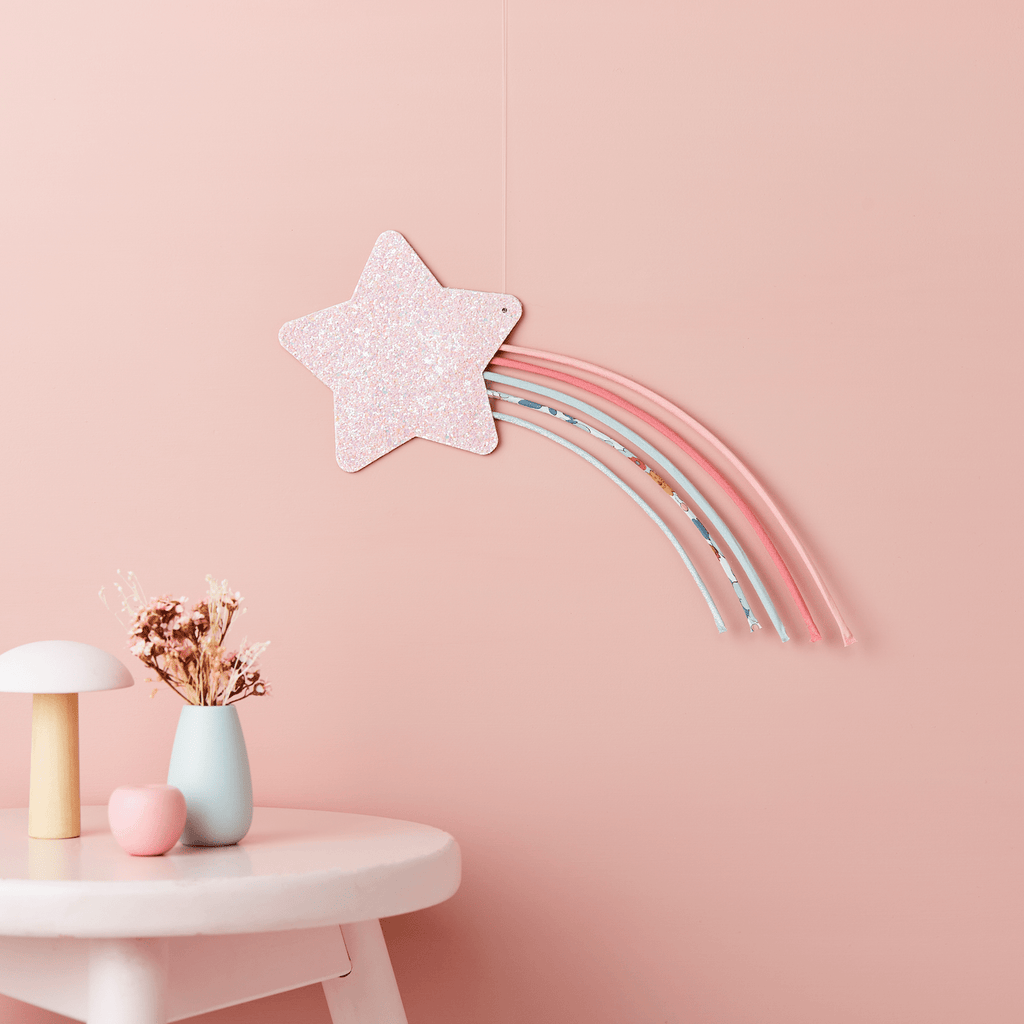 Little Cloud Rainbows Liberty Liberty Betsy Grey Shooting Star Wire Wall Hanging