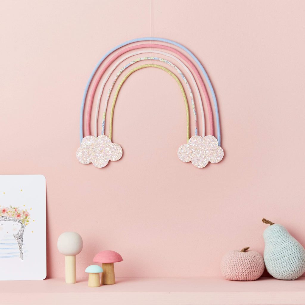 Little Cloud Rainbows Liberty Betsy Pastel Rainbow Wire Wall Hanging