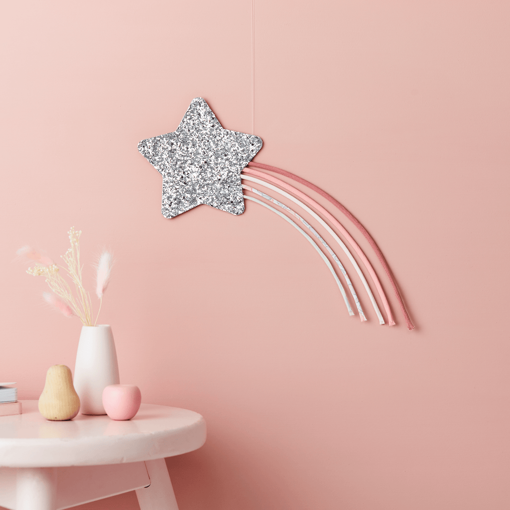 Little Cloud Rainbows Liberty Liberty Betsy Pink Shooting Star Wire Wall Hanging