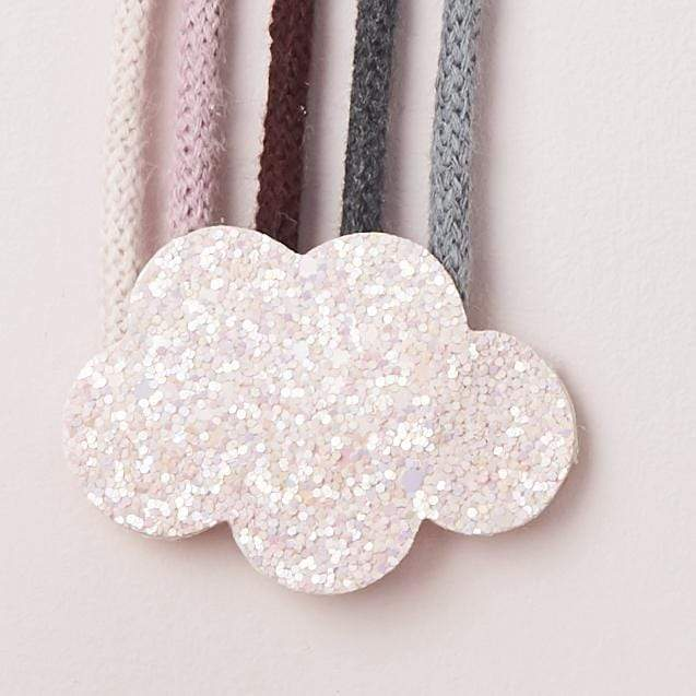 Little Cloud Rainbows Liberty Pink & Grey Knit Rainbow Wire Wall Hanging
