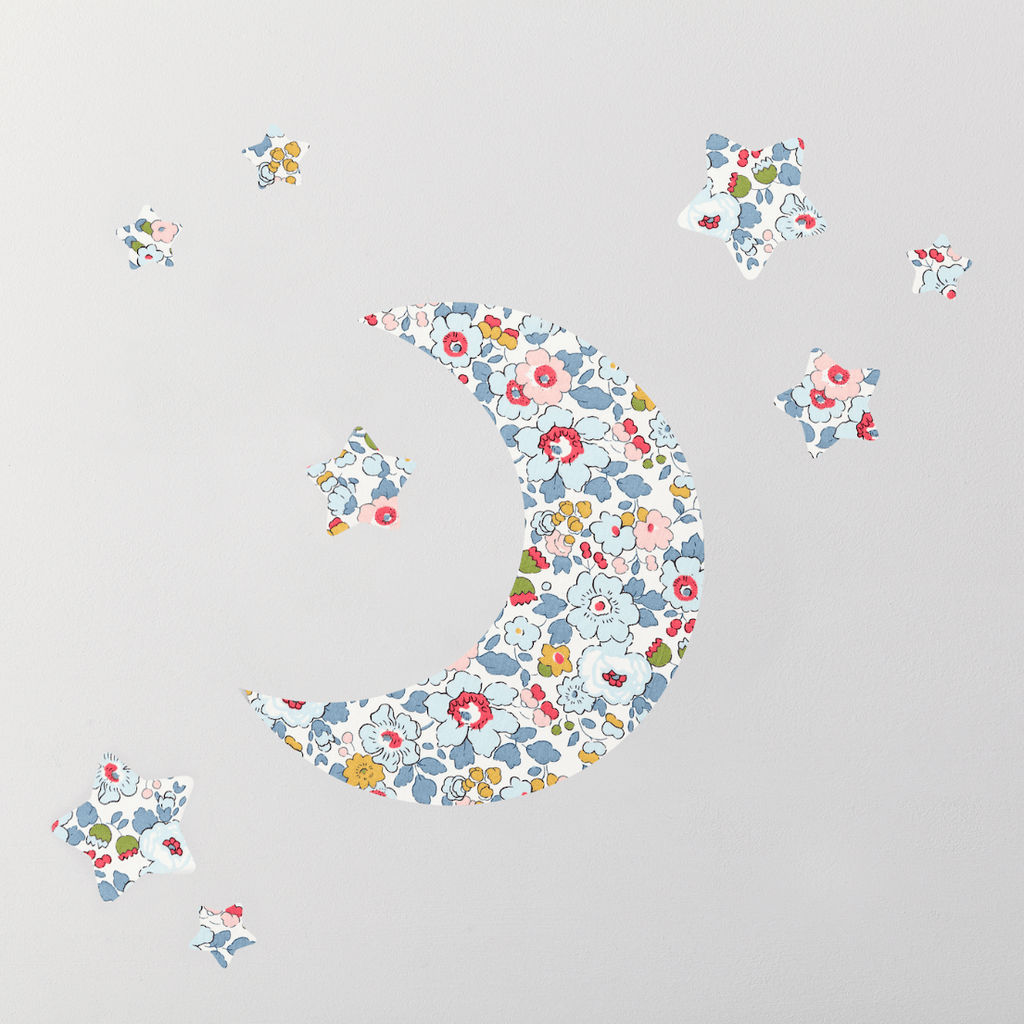 Little Cloud Wall Stickers Liberty Betsy Grey Moon & Stars Wall Stickers Set