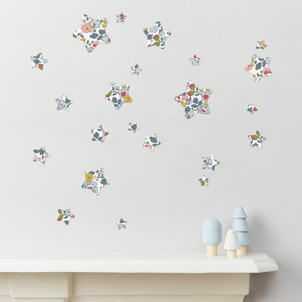 Little Cloud Wall Stickers Stars Liberty Betsy Grey Liberty Stars Mix Wall Stickers