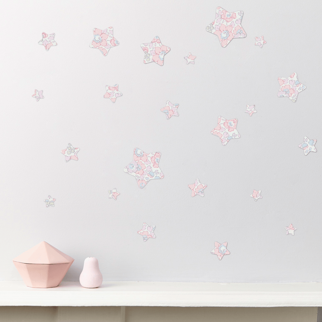 Little Cloud Wall Stickers Stars Liberty Betsy Pink Liberty Stars Mix Wall Stickers