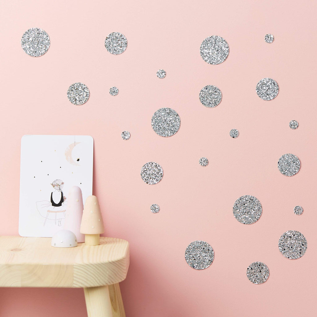 Little Cloud Wall Stickers Stars Liberty Dot Glitter Wall Stickers (more options available)