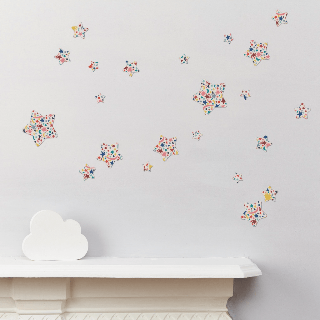 Little Cloud Wall Stickers Stars Liberty Fizz Pop Stars Mix Wall Stickers