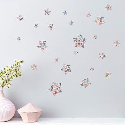 Little Cloud Wall Stickers Stars Liberty Limited Edition - Betsy C'est Si Bon Liberty Stars Wall Stickers