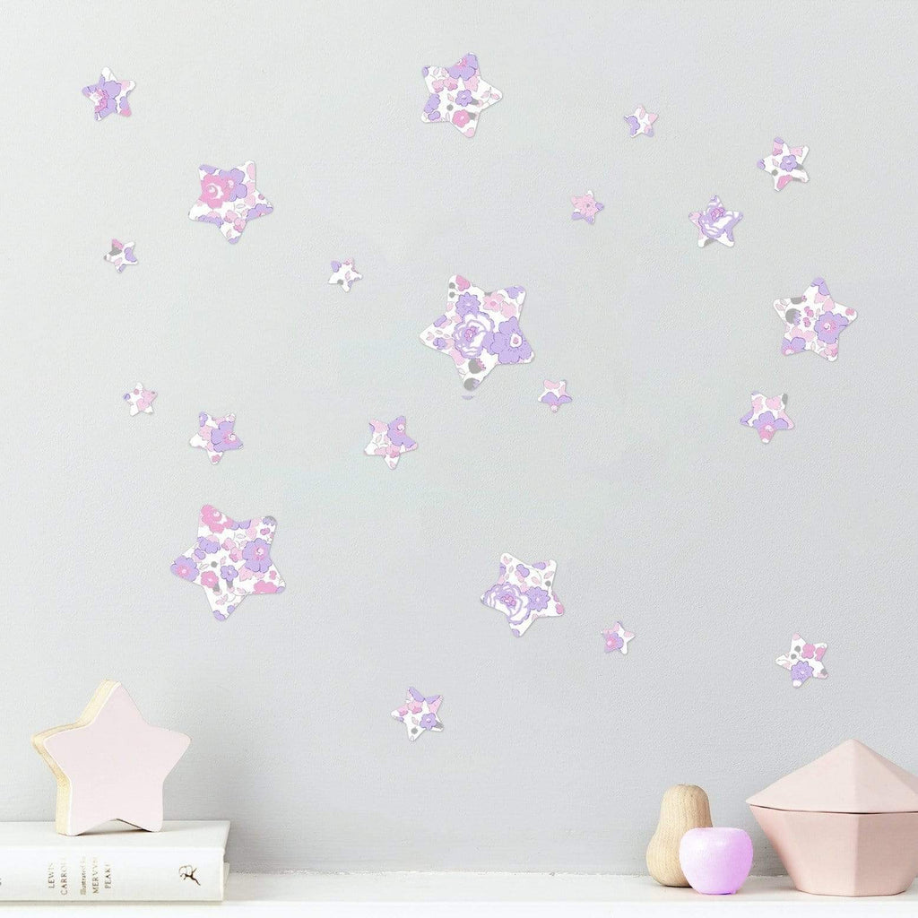 Little Cloud Wall Stickers Stars Liberty Limited Edition - Betsy Metallic Macaron Liberty Stars Mix Wall Stickers