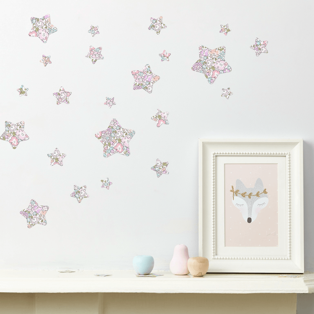 Little Cloud Wall Stickers Stars Liberty Michelle Pastel Liberty Stars Mix Wall Stickers