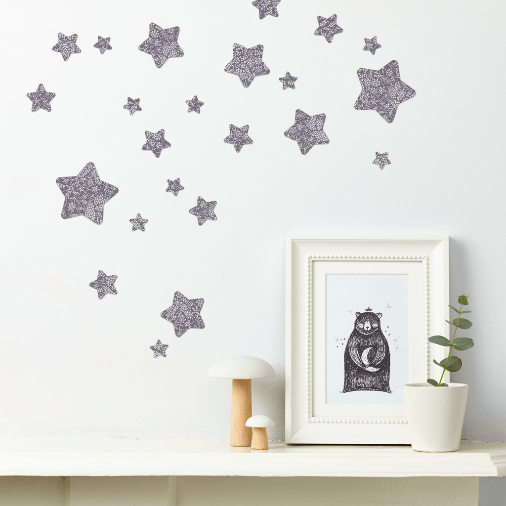 Little Cloud Wall Stickers Stars Liberty Whispering Star Liberty Stars Mix Wall Stickers