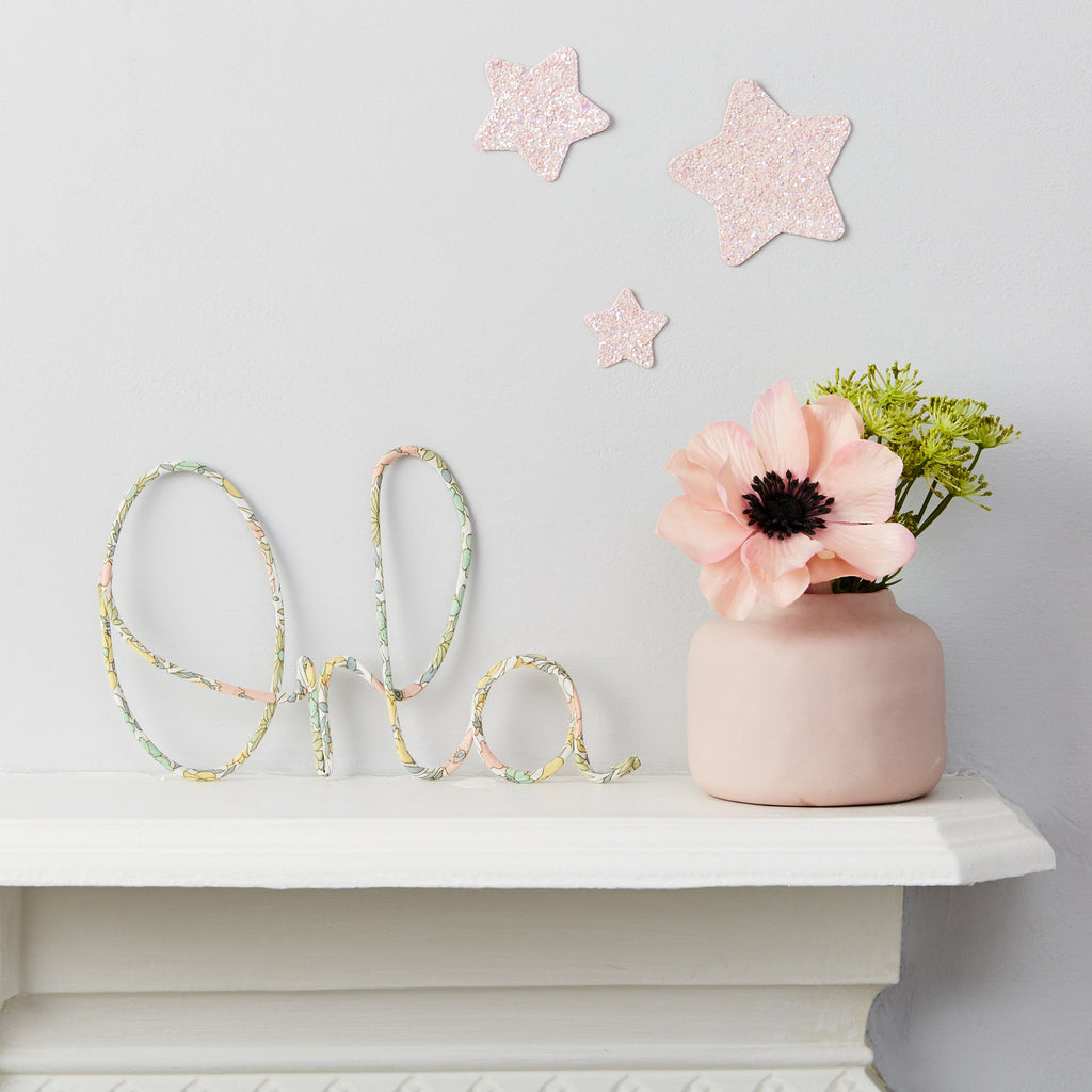 Little Cloud Wire Signs and Shapes Liberty Liberty Name Sign Poppy Pastel