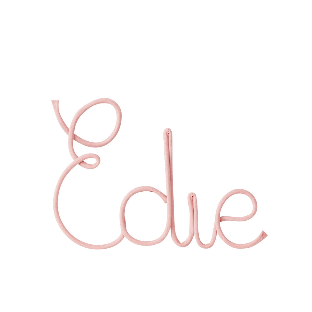 Little Cloud Wire Signs and Shapes Liberty Primrose Pink Name Sign